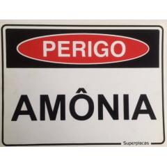 Placa Sinalização Amônia