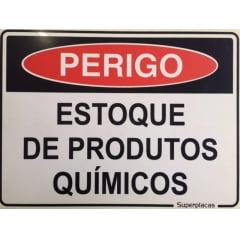 Placa Sinalização Estoque de Produtos Químicos