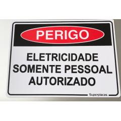 Placa Perigo Eletricidade Somente Pessoal Autorizado
