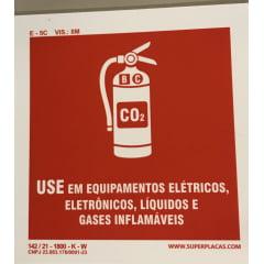 Placas Siinalização Co2 Com Extintor