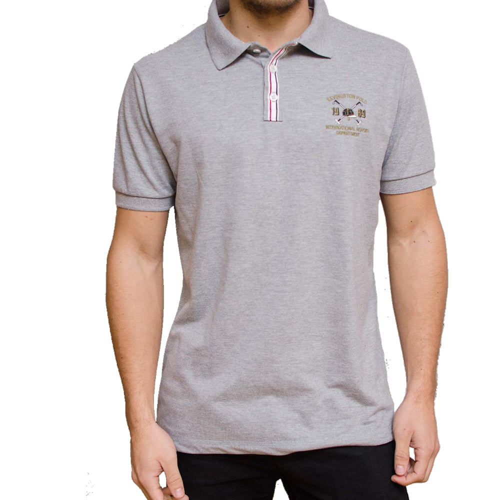 POLO ALLURE RUGBY M/C - CINZA