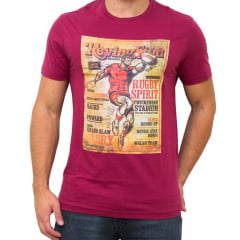 CAMISETA DIVERTIDA SLIM FIT M/C - BORDO