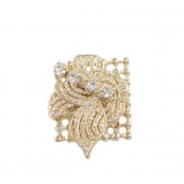 Anéis com strass folheado a ouro 18k