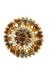 Anel mandala cristais
