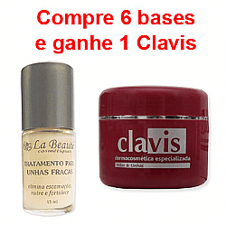 Tratamento Unhas Fracas compra 6 Ganha 1 Clavis