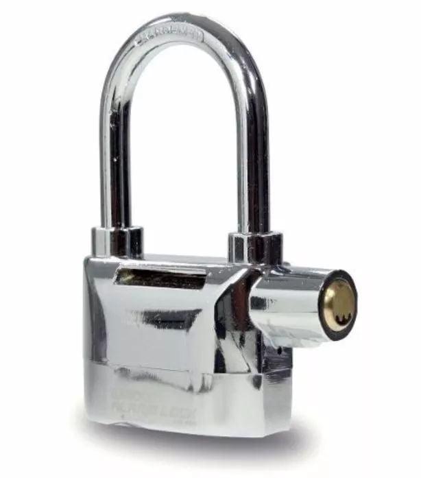 Cadeado Segurança Aço Reforçado Com Alarme Sonoro Casa Moto