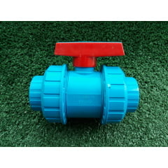 Registro Esfera Pvc 50mm União Azul Irrigação