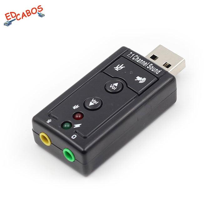 Placa de Som USB Externa 7.1