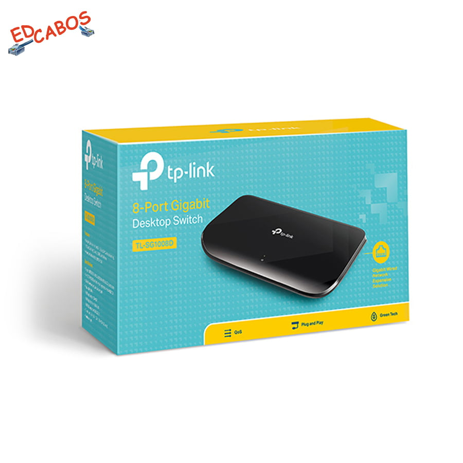 Switch Rede Gigabit 8 Portas TP-Link TL-SG1008D