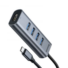 Baseus Hub USB C com HDMI + 4 USB 3.0