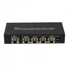Splitter SDI 1X4 3G/HD/SD com Fonte