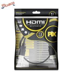 Cabo Ultra HDMI 1 Metro 2.0 4K 19 Pinos @60Hz PIX