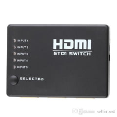 Seletor Switch HDMI 5 entradas 1 saída 5x1 PVC