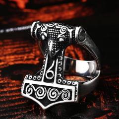 Anel vikings martelo de Thor em Aço Inoxidável de Alta Qualidade