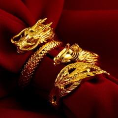 Anéis de Dragão  Ajustável banhado a ouro
