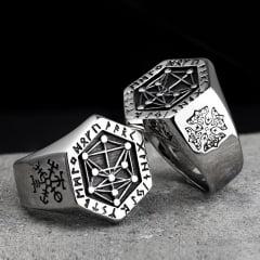 Anéis Vikings em aço inoxidável