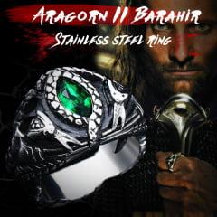 Anel de Barahir Aragorn II cobra em Aço Inoxidável 316L