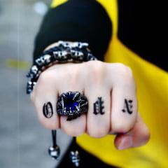 Anéis dragon em Aço Inoxidável Pedra Hiqh
