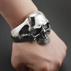 Bracelete de caveira em  Aço Inoxidável 316L alta qualidade