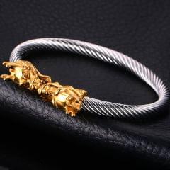 pulseiras  Vikings cabeça de Dragão