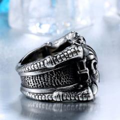 Anéis crânio caveira em Aço Inoxidável 316L alta qualidade