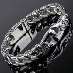 Pulseira Vikings jóias em Titânio nova moda nórdica