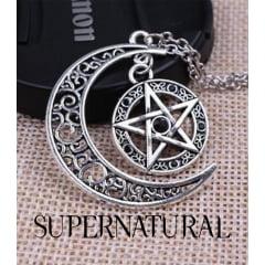 Supernatural colar Pentagrama amuleto pingente serie Supernatural.