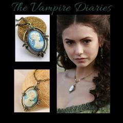 Diário de um vampiro  colar com pingente retro  Katherine