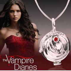 Diário de um vampiro colar porta verbena Elena Gilbert