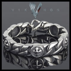 Pulseira Vikings jóias em Aço Inoxidável 316L estilo nórdico vikings