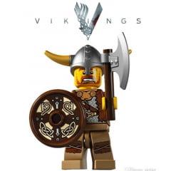 Vikings lego guerreiro com escudo serie vikings
