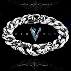 Vikings pulseira modelo Nórdico em Aço Inoxidável Vikings série