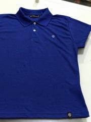 Blusa Feminina Gola Polo Azul Royal