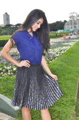 BLUSA GOLA LAÇO AZUL MARINHO MANGA CURTA camisa social feminina