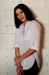 CAMISA FEMININA MANGA 3 4 BRANCA  camisa social feminina