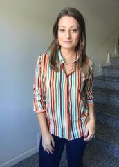 Camisa Manga Longa Chemizz Listrada Tons Terrosos