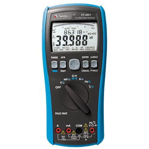 Multímetro True RMS - CAT IV - USB - Minipa - ET-2801