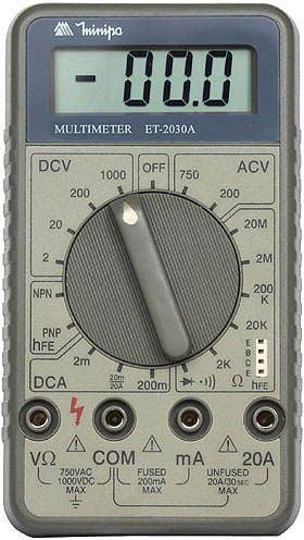 Multímetro CAT ll   Minipa   ET-2030A