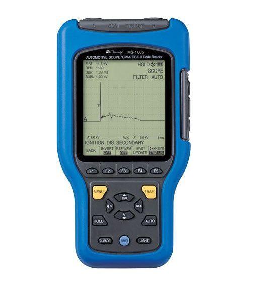 Osciloscópio 25 MS/s  Multímetro Gráfico Automotivo CAT II - USB  Minipa - MS-1005