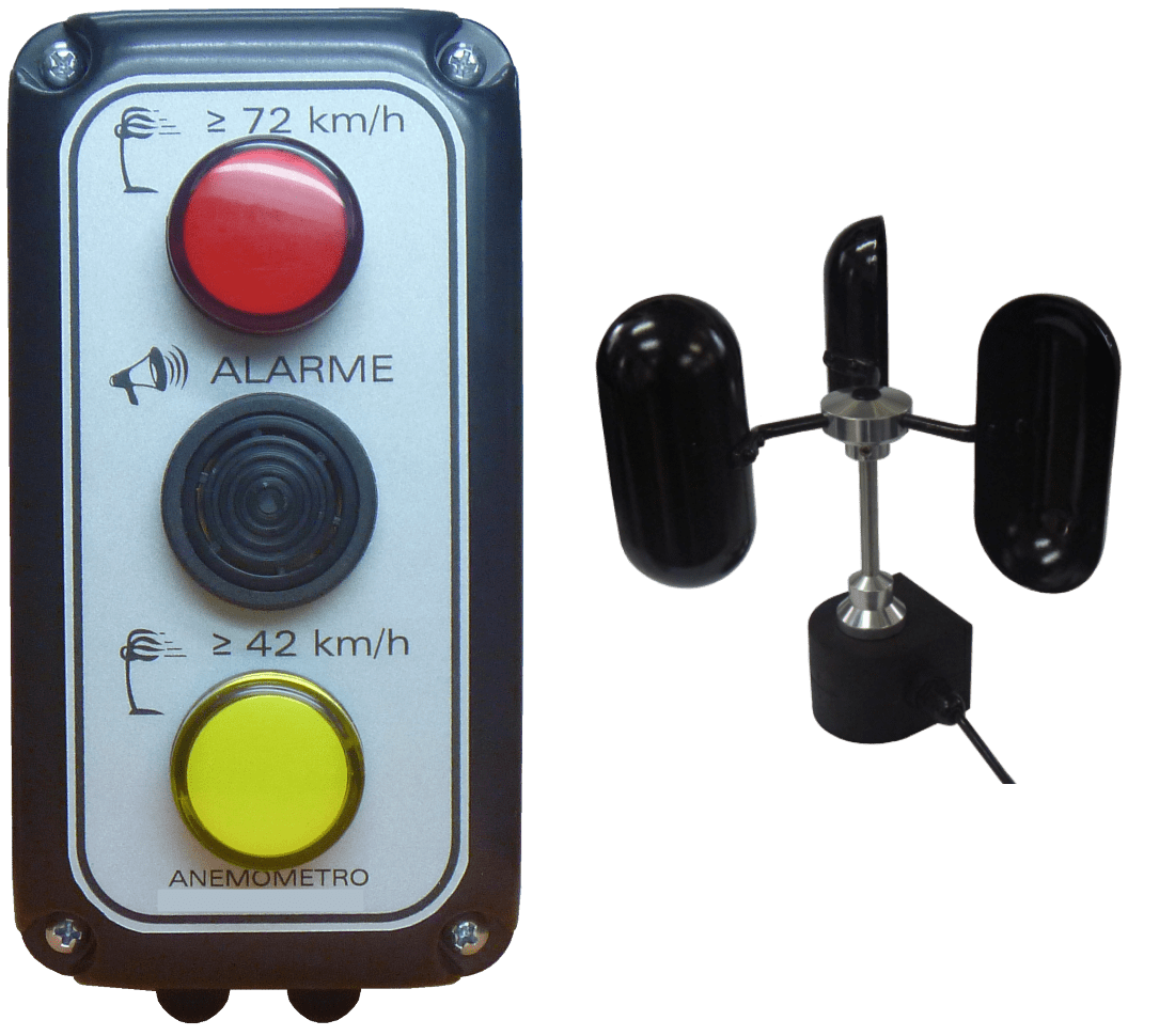 Anemômetro c/ Sinalizador Sonoro p/ Gruas e Guindastes - ITAE-GRU