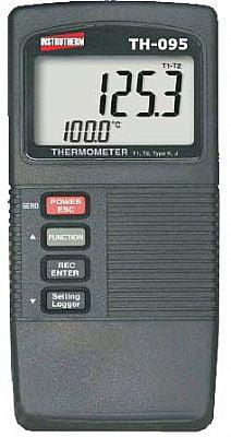 Termômetro Tipo K/J (2x canais) - rs-232 Data Logger - Instrutherm TH-095