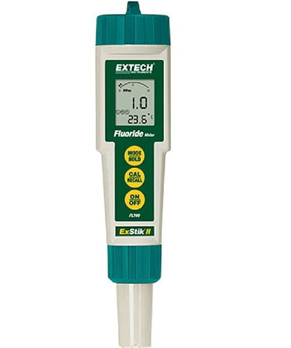 Medidor de fluoreto Leitura de 0,1 a 9,99 ppm ou mg/L - Extech - FL-700
