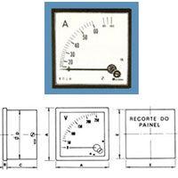 Amperímetro ou Voltímetro  Engro  mod- 48 / 72 / 96 / 144