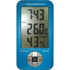 Termo-Higrômetro-Relógio Máx/Mín (Temp. Int/Ext) - Minipa - MT-240