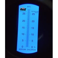 Refratômetro Salinidade (0a28%) - RTS-28