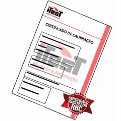 Certificado de Calibração para Multímetro 3 5/6 Dígitos