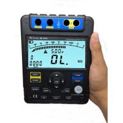 Megômetro (100GΩ/5KV) CAT III  USB - c/ Memória 18 dados  Minipa - MI-2705