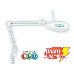 Lupa c/ LED 8x Bivolt  Hikari/Solver - HL-500-8X