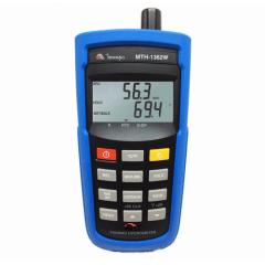 Termo-Higrômetro/ Psicrômetro (Temp Bulbo Sêco/Úmido/Pto Orvalho) c/ 256 Memórias e Wireless - Minipa - MTH-1362W