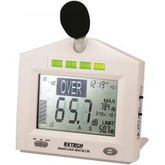Decibelímetro c/ ALARME (Alerta de nível de ruído) - Extech - SL-130W